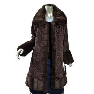 Russian Princess Coat Medium Faux Broadtail Mink